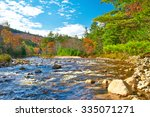 Swift River At Autumn In White...