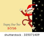 christmas and new year's card... | Shutterstock . vector #335071409