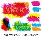 grunge  vintage halftone vector ... | Shutterstock .eps vector #335078999