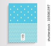 abstract minimal flyer design...   Shutterstock .eps vector #335081597