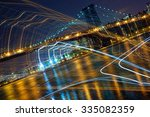 night city lights abstract on... | Shutterstock . vector #335082359