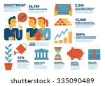 investment infographics | Shutterstock .eps vector #335090489
