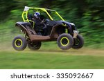 motion blurred of buggy car in...   Shutterstock . vector #335092667
