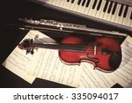 musical instruments with music...   Shutterstock . vector #335094017