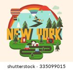 new york vintage | Shutterstock .eps vector #335099015