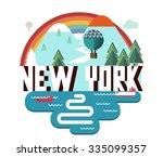 new york beautiful city in...   Shutterstock .eps vector #335099357