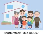 three generation family  vector ...