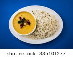 whole yellow lentil dal tadka... | Shutterstock . vector #335101277