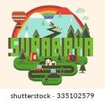 surabaya beautiful city in... | Shutterstock .eps vector #335102579