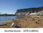 puerto de mogan  gran canaria ... | Shutterstock . vector #335118041