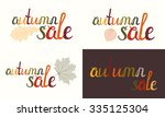 set of autumn sale inscription... | Shutterstock .eps vector #335125304