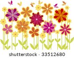 simple cute flower bed in... | Shutterstock .eps vector #33512680
