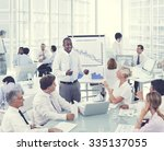 business people presentation... | Shutterstock . vector #335137055