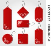 Red Christmas Tag Collection...