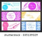 beautiful wedding card... | Shutterstock .eps vector #335139329