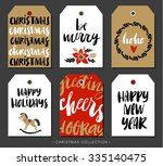 christmas gift tag with... | Shutterstock .eps vector #335140475