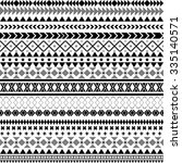 seamless vector tribal texture. ... | Shutterstock .eps vector #335140571
