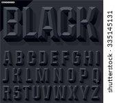 vector 3d black condense... | Shutterstock .eps vector #335145131