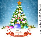 new year and merry christmas... | Shutterstock . vector #335146547
