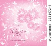 wedding card or invitation with ... | Shutterstock .eps vector #335147249