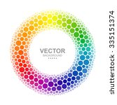 Abstract Dotted Color Wheel.