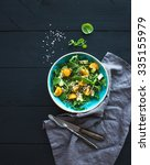 Bowl Of Green Salad With...