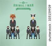 animal character concept... | Shutterstock .eps vector #335159939