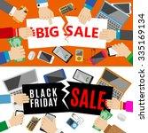 black friday sale design...   Shutterstock .eps vector #335169134