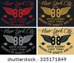 brooklyn   new york city... | Shutterstock .eps vector #335171849