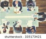 business people meeting... | Shutterstock . vector #335173421