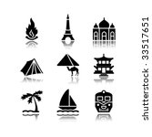 black icons set 22