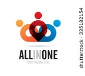 all in one icon logo element   Shutterstock .eps vector #335182154