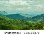 fog in the  mountain landscape   Shutterstock . vector #335186879