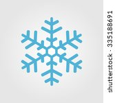 snowflake icon graphic.  | Shutterstock .eps vector #335188691