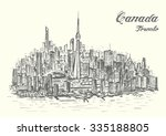 canada hand drawn style... | Shutterstock .eps vector #335188805