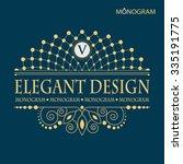 vintage vector monogram.... | Shutterstock .eps vector #335191775