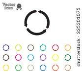 circular arrows vector icon | Shutterstock .eps vector #335201075