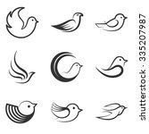 Collection Of Bird Shapes And...