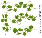 set from vine on a white... | Shutterstock .eps vector #33521395