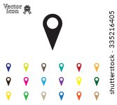 map pointer   vector icon  flat ... | Shutterstock .eps vector #335216405