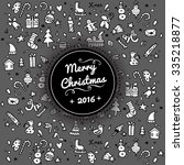 doodle christmas background.... | Shutterstock .eps vector #335218877