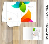 white creative folder template... | Shutterstock .eps vector #335227037