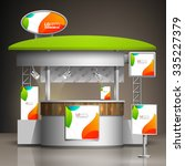 white creative exhibition stand ... | Shutterstock .eps vector #335227379