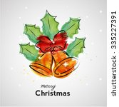 merry christmas greeting card... | Shutterstock .eps vector #335227391