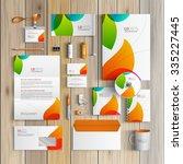 white creative corporate... | Shutterstock .eps vector #335227445