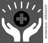 medical prosperity glyph icon....   Shutterstock . vector #335232257