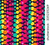 bright rainbow circle seamless... | Shutterstock .eps vector #335235269