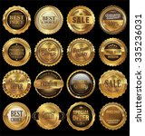 quality golden labels collection | Shutterstock .eps vector #335236031