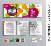 creative brochure template... | Shutterstock .eps vector #335243777