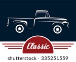 classic pickup vehicle... | Shutterstock .eps vector #335251559